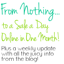 Create and thrive e-book - handmade sales